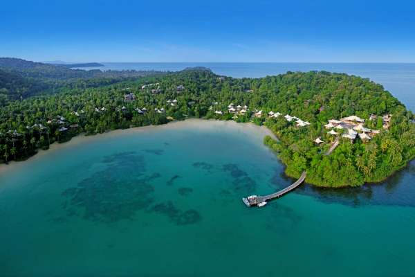 Aerial view on the site of Soneva Kiri at Ko Kood, Thailand
