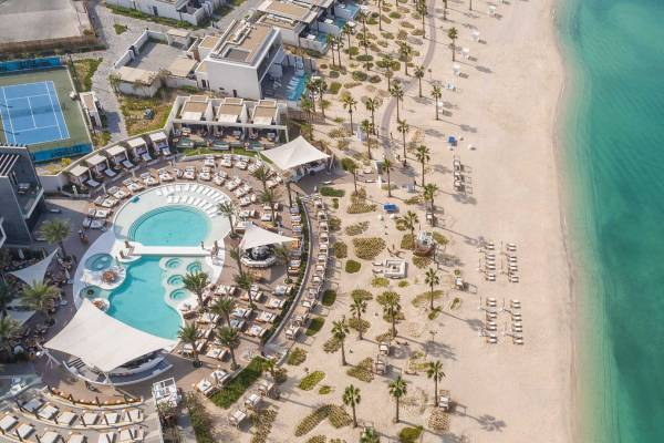 Nikki Beach Resort Dubai Aerial View