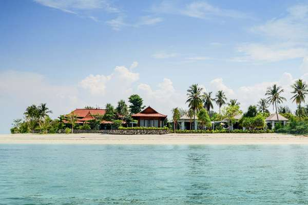 View from the sea on the property of The Legian Lombok