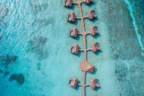 Intercontinental Maldives Maamunagau Resort Pool Villas Aerial View
