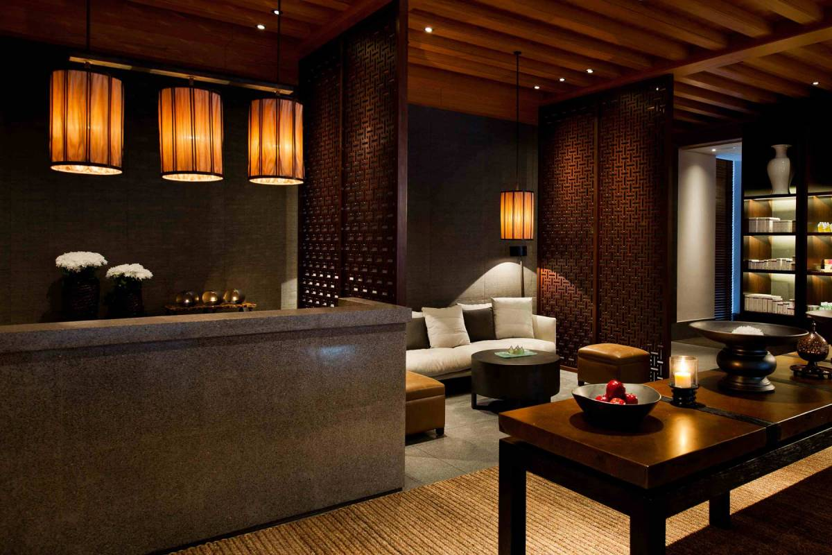 The Chedi Muscat Spa Rezeption