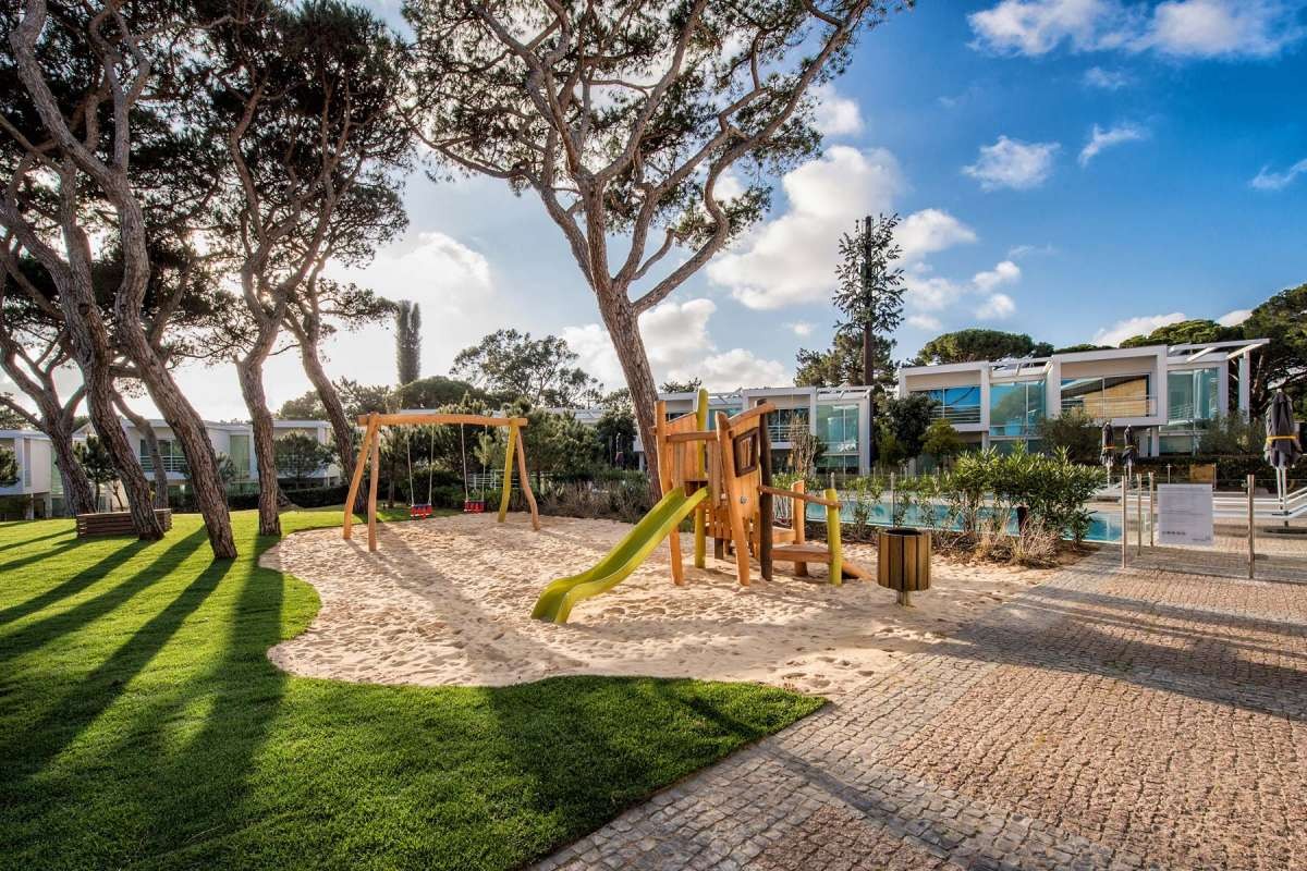 View on the playground at Martinhal Cascais