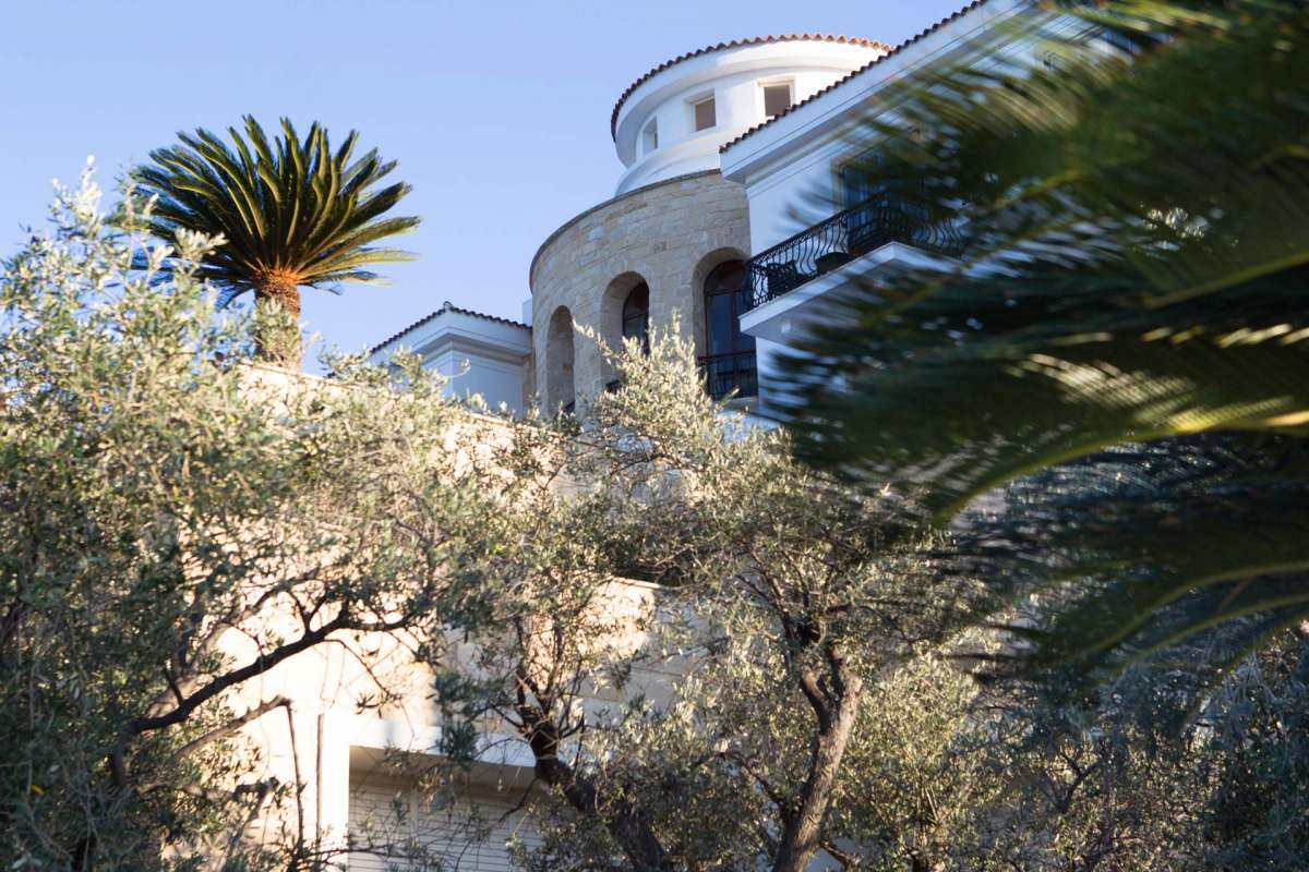 View on the building of Anassa hotel